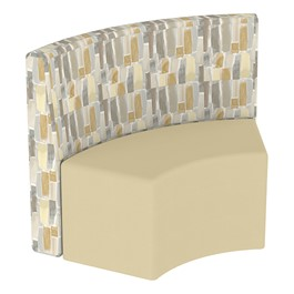 Shapes Series II Structured Designer Soft Seating - S-Curve - Desert Back & Sand Seat