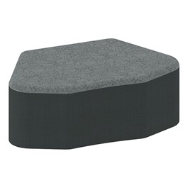 "Shapes Series II Designer Soft Seating - Petal (12"" High) - Black/Pepper"