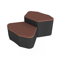 Shapes Series II Designer Soft Seating - Petal - Brick/Black