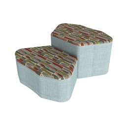 Shapes Series II Designer Soft Seating - Petal - Confetti/Blue