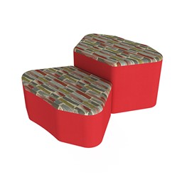Shapes Series II Designer Soft Seating - Petal - Confetti/Red