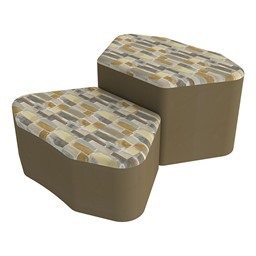Shapes Series II Designer Soft Seating - Petal - Desert/Chocolate