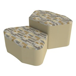 Shapes Series II Designer Soft Seating - Petal - Desert/Sand