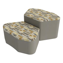 Shapes Series II Designer Soft Seating - Petal - Desert/Taupe