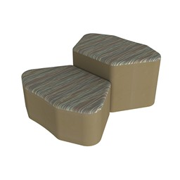 Shapes Series II Designer Soft Seating - Petal - Pecan/Chocolate