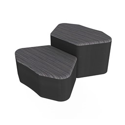 Shapes Series II Designer Soft Seating - Petal - Pepper/Black
