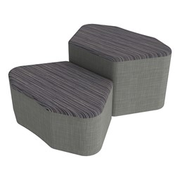 Shapes Series II Designer Soft Seating - Petal - Pepper/Gray