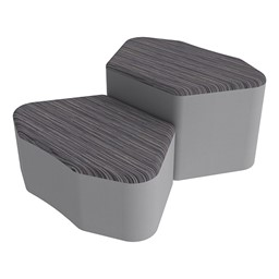 Shapes Series II Designer Soft Seating - Petal - Pepper/Light Gray