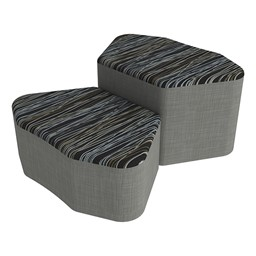 Shapes Series II Designer Soft Seating - Petal - Peppercorn/Gray