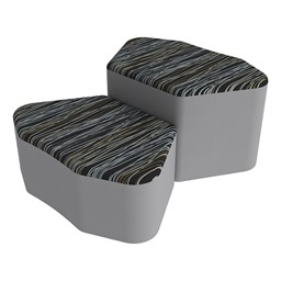 Shapes Series II Designer Soft Seating - Petal - Peppercorn/Light Gray