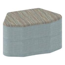 "Shapes Series II Designer Soft Seating - Petal (18\"" High) - Blue/Pecan"