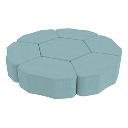 Shapes Series II Vinyl Soft Seating - Hexagon - Shown w/ Petal (not included)