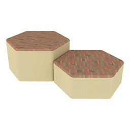 Shapes Series II Designer Soft Seating - Hexagon - Dark Latte/Sand