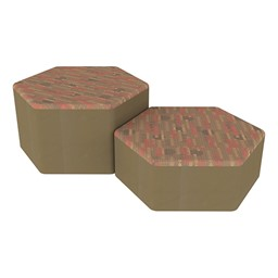 Shapes Series II Designer Soft Seating - Hexagon - Dark Latte/Chocolate
