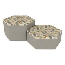 Shapes Series II Designer Soft Seating - Hexagon - Desert/Taupe