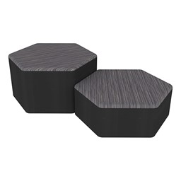 Shapes Series II Designer Soft Seating - Hexagon - Pepper/Black