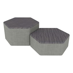 Shapes Series II Designer Soft Seating - Hexagon - Pepper/Gray