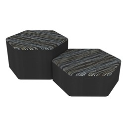 Shapes Series II Designer Soft Seating - Hexagon - Peppercorn/Black