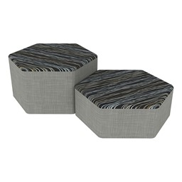 Shapes Series II Designer Soft Seating - Hexagon - Peppercorn/Gray
