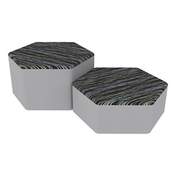 Shapes Series II Designer Soft Seating - Hexagon - Peppercorn/Light Gray