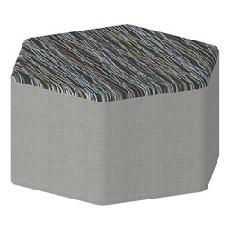"Shapes Series II Designer Soft Seating - Hexagon - 18"" H"