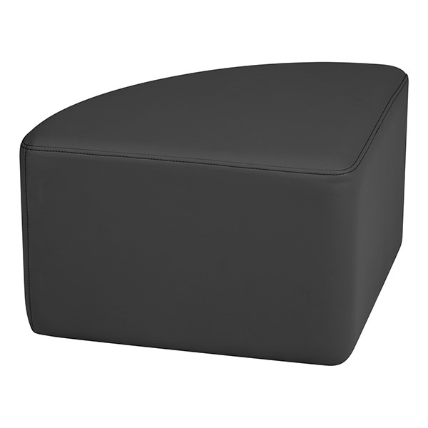 "Shapes Series II Vinyl Soft Seating - Pie (12"" High) - Black Smooth Grain"