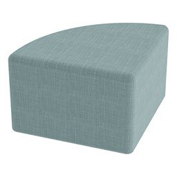 "Shapes Series II Vinyl Soft Seating - Pie (12"" High) - Blue Crosshatch"