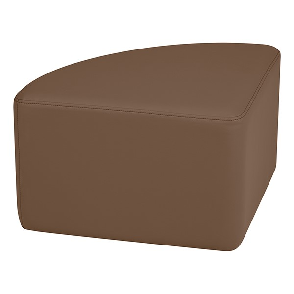 "Shapes Series II Vinyl Soft Seating - Pie (12"" High) - Chocolate Smooth Grain"