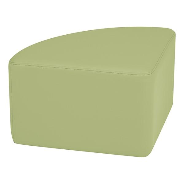 "Shapes Series II Vinyl Soft Seating - Pie (12"" High) - Fern Green Smooth Grain"