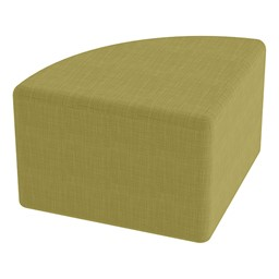 "Shapes Series II Vinyl Soft Seating - Pie (12"" High) - Green Crosshatch"