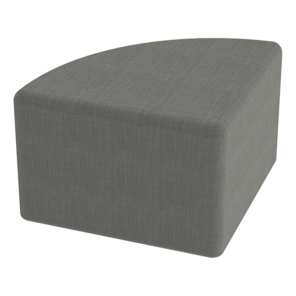 "Shapes Series II Vinyl Soft Seating - Pie (12"" High) - Gray Crosshatch"