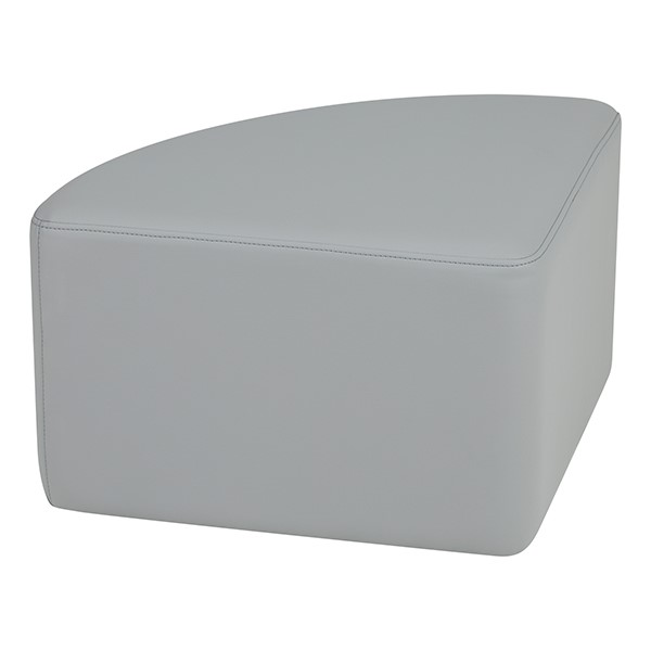 "Shapes Series II Vinyl Soft Seating - Pie (12"" High) - Light Gray Smooth Grain"