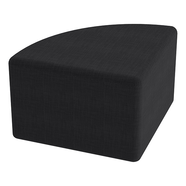 "Shapes Series II Vinyl Soft Seating - Pie (12"" High) - Navy Crosshatch"