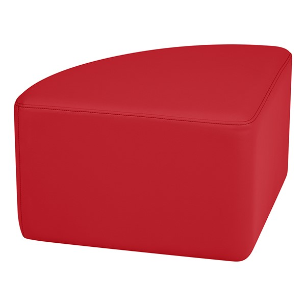 "Shapes Series II Vinyl Soft Seating - Pie (12"" High) - Red Smooth Grain"