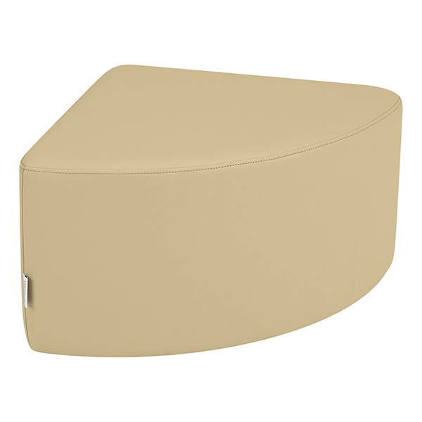 "Shapes Series II Vinyl Soft Seating - Pie (12"" High) - Sand Smooth Grain"