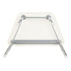 Trapezoid Collaborative Desk and 18-Inch Profile Series School Chair Set - Desk - Frame