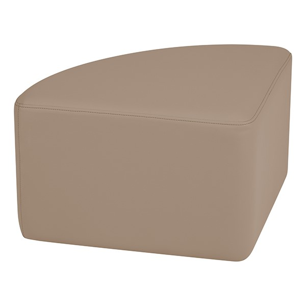 "Shapes Series II Vinyl Soft Seating - Pie (12"" High) - Taupe Smooth Grain"