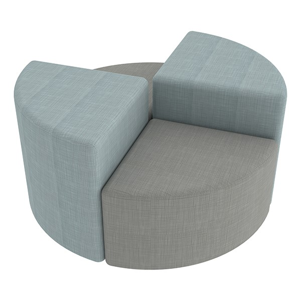 "Shapes Series II Vinyl Soft Seating - Pie (12"" High) - Grouped"