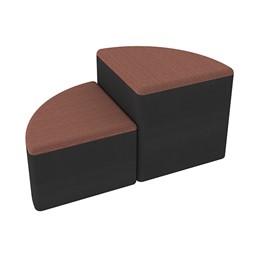 Shapes Series II Designer Soft Seating - Pie - Brick/Black