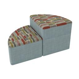 Shapes Series II Designer Soft Seating - Pie - Confetti/Blue