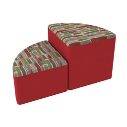 Shapes Series II Designer Soft Seating - Pie - Confetti/Red