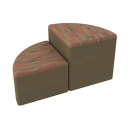 Shapes Series II Designer Soft Seating - Pie - Dark Latte/Chocolate