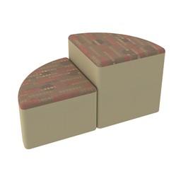 Shapes Series II Designer Soft Seating - Pie - Dark Latte/Sand