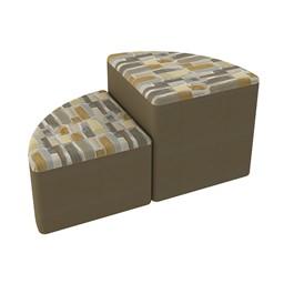Shapes Series II Designer Soft Seating - Pie - Desert/Chocolate