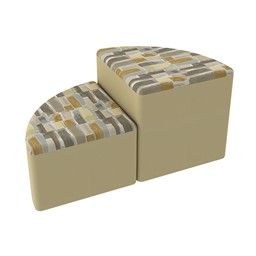 Shapes Series II Designer Soft Seating - Pie - Desert/Sand