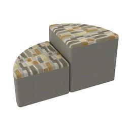 Shapes Series II Designer Soft Seating - Pie - Desert/Taupe
