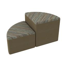 Shapes Series II Designer Soft Seating - Pie - Pecan/Chocolate