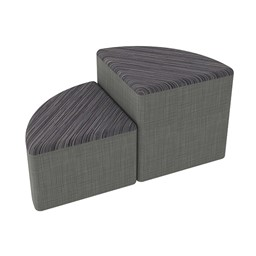Shapes Series II Designer Soft Seating - Pie - Pepper/Gray