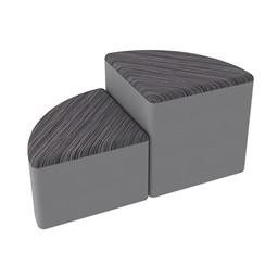 Shapes Series II Designer Soft Seating - Pie - Pepper/Light Gray
