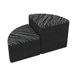 Shapes Series II Designer Soft Seating - Pie - Peppercorn/Black